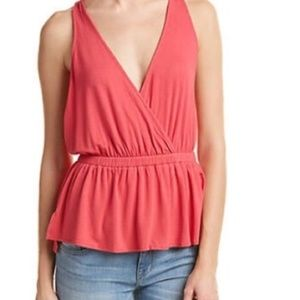 NWT Free People Tank Top Red Heat Wave